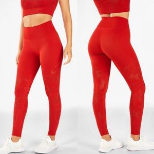 Fabletics High-Waisted SculptKnit Camo Legging Red